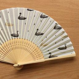 西淑 シルク扇子 [ swan ] cozyca products/表現社 扇子 センス せんす 布 暑さ対策 携帯用 コンパクト おしゃれ プレゼント ギフト 女性用 レディース