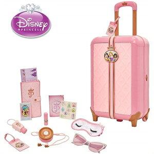 【Disney Princess】 ディズニープリンセス トラベル スーツケース プレイセット 17点セット/おもちゃ/バッグ/誕生日/アイマスク/サングラス/パスポート/旅行ごっこ/女の子