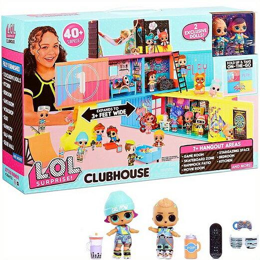 コレクション, コレクタードール L.O.L. Surprise LOL 2 Clubhouse Playset with 40 Surprises and 2 Exclusives Dolls lol