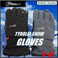 最新モデル【TYROLIAチロリア】スノーグローブスキー・スノーボードスノーグローブ/手袋/男性用/メンズ/グローブ/ブラック/ダークグレー/スマホ手袋/スノボ