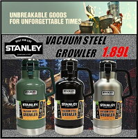 【STANLEYスタンレー】GROWLERクラシック真空ボトルグロウラーステンレスボトル1.9L水筒魔法瓶/保温/保冷/キャンプ/スポーツ観戦/アウトドア/釣り/バーベキュー/大容量