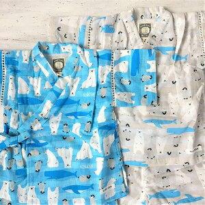 リオ横山 BLUEUAZUR ブルーアズール 甚平スーツ シロクマ ペンギン クジラ 海の生き物 子供用甚平 赤ちゃんの甚平 赤ちゃん用甚平 男の子用甚平 子供用甚平スーツ 80センチから130センチ メール便無料