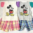 AMPERSANDアンパサンドDYミッキーワンマイルウェア子供用半袖パジャマ子供用Tシャツスーツ子供用スーツディズニーミッキーマウスメール便無料