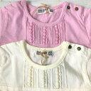 RAG MART ラグマート ベビー用長袖Tシャツ 女の子の長袖Tシャツ 赤ちゃんのTシャツ 無地長袖Tシャツ 3