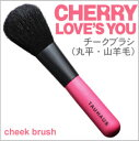 【名入れ無料】TAUHAUSメイクブラシ(化粧筆)CHERRYチークブラシ(平)/熊野筆