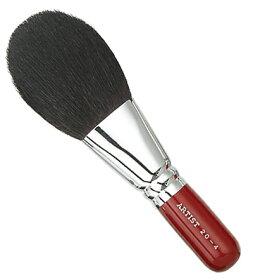 【名入れ無料】竹宝堂化粧筆(メイクブラシ)パウダーブラシ20-4赤軸/熊野筆
