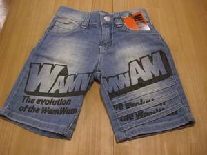 (定価3600円+税をSALE)WAMWAM(春物)デニムハーフパンツ(100cm、110cm、140cm、150cm)