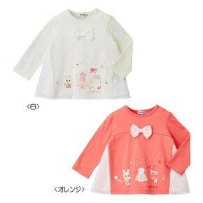 (送料無料)ミキハウス(おすすめ)mikihouseデザイナーうさこ♪長袖Tシャツ 日本製(100cm、110cm)