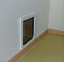キャットフラップR221(白)壁用延長トンネル付