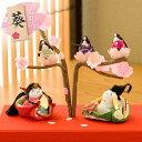 雛人形 ひな人形 ちりめん コンパクト 小さい ミニ桜の宴幸せ雛 お雛様 ひな祭り『龍虎堂』リュウコドウ