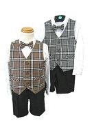 タータンチェック シングルベストスーツ