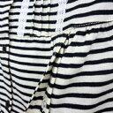【mutti ei ムッティー アイ】長袖TC天竺ボーダー授乳口付きパジャマ グレー /産前産後対応  02P03Dec16