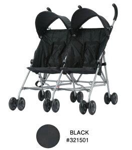 【エンドー】COOL KIDS CKバギーツイン ブラック(BK)/321501/双子用ベビーカー/生後7ヶ月から/双子用ストローラー