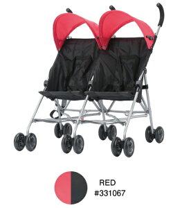 【エンドー】COOL KIDS CKバギーツイン レッド(RD)/331067/双子用ベビーカー/生後7ヶ月から/双子用ストローラー