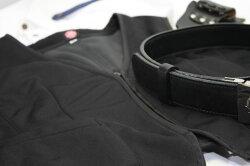 防風防寒ウインドストッパーインナーベスト黒メンズ日本製