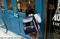 デコレートリュックキッズスクールバッグdecoratechantDMS-057Lサイズ(25L)ブラック×パープル女の子/キッズ/ジュニア/レディース/小学生/遠足/林間学校/リュックサック/ランドセル/レッスンバッグ/フロントストラップ付送料無料(沖縄除く)