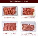送料無料 肉 国産牛 牛肉 赤城牛 BBQセット 焼肉セット 800g 200g×4種 期間限定 BBQ バーベキュー 焼肉 セット 期間限定 和牛 希少部位 ミスジ ウチモモ ザブトン タン 3
