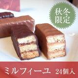 サクサク大好き!【チョコレート】ミルフィユショコラ ウィンター 24本入りエルマドロン