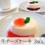 ネットで当店大人気!赤い実の生チーズケーキ!春夏タ入イプに変わりました!レアチーズケーキ3個り2種類のソース付き