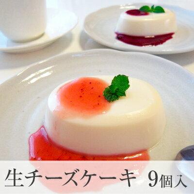 ネットで当店大人気!赤い実の生チーズケーキ!秋冬タ入イプに変わりました!レアチーズケーキ9個り2種類のソース付き