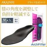 【AKAISHI公式通販】アーチフィッターインソールお悩み膝用【P06Dec14】膝の負担を軽減!O脚にも