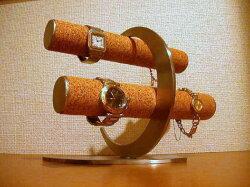 三日月デザイン丸パイプコルク張り腕時計スタンド