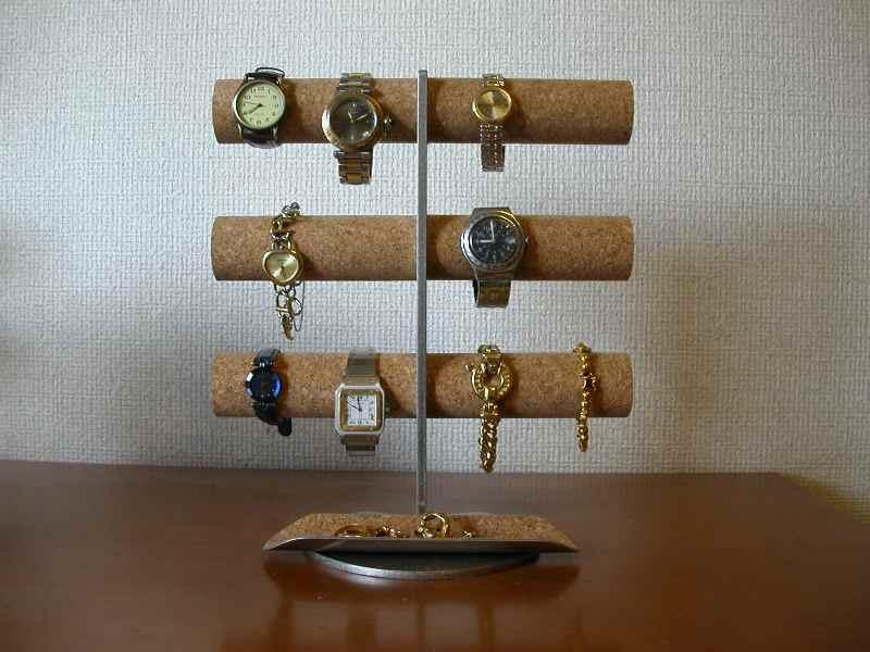 ウォッチ 時計 スタンド 12本掛け腕時計タワースタンドロングトレイバージョン