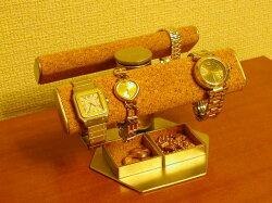 だ円手動式腕時計スタンド★トレイ付き