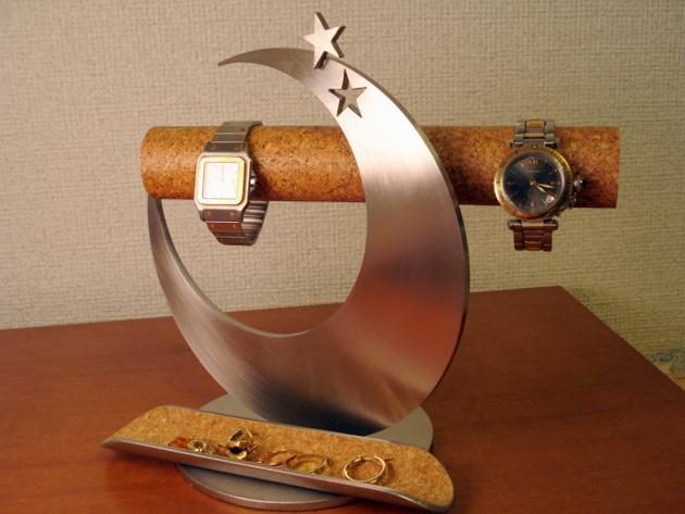アクセサリー スタンド 三日月飛び出す星のかわいい腕時計スタンド