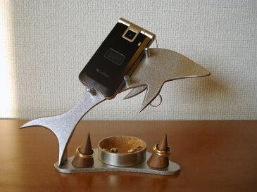 スマホ スタンド 丸トレイ&リングスタンド付きドルフィン携帯電話スタンド