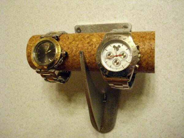 ウォッチスタンド2本掛け壁付けタイプ腕時計スタンド
