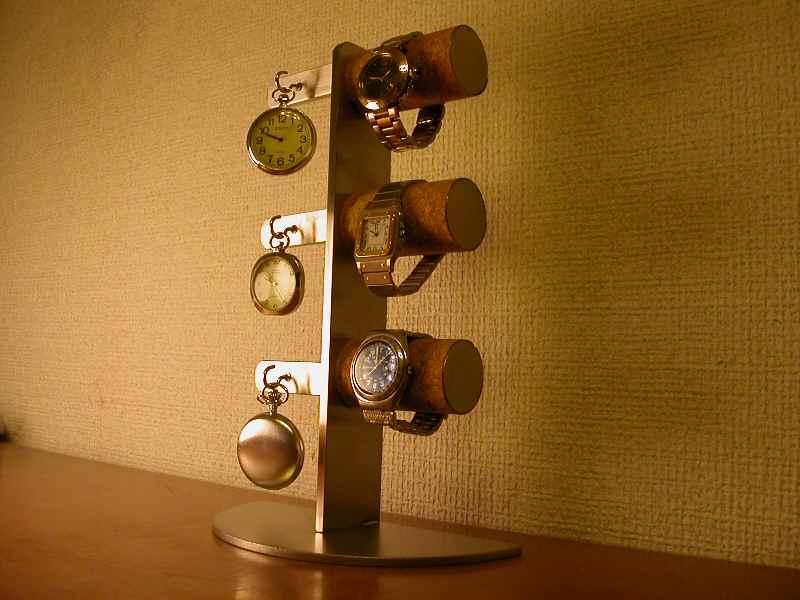 ウォッチスタンド 腕時計&懐中時計6本掛けスタンダードスタンド