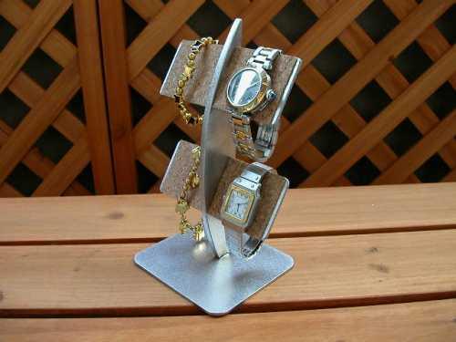 腕時計スタンド バー型三日月4本掛け腕時計収納スタンド★AK21