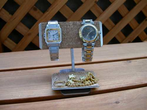 時計スタンド バー2本掛けデスク腕時計スタンド