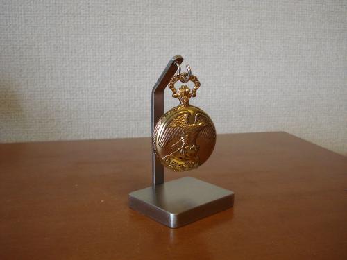 懐中時計 飾る どっしり四角台座懐中時計スタンド★CK2