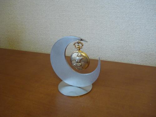 インテリア かわいい三日月懐中時計スタンド CK11