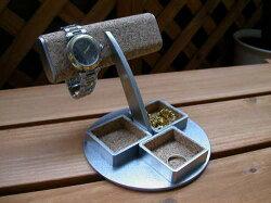 2本掛け角トレイ腕時計スタンドAK456