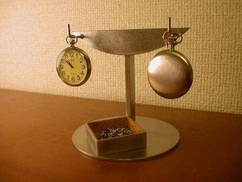 懐中時計スタンド 2本掛け菱形トレイインテリア懐中時計ケース風スタンド KD23