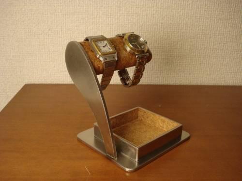 ウォッチ スタンド 2本掛けアクセサリー収納トレイ腕時計スタンド AK56