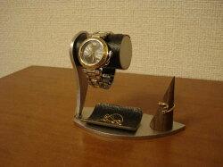 インテリア1本掛け腕時計スタンドリングスタンド&黒トレイWS245