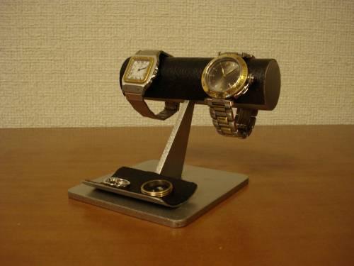 腕時計 スタンド するっとしたブラック腕時計スタンド