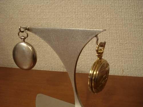 懐中時計スタンド 2本掛けあっち向きこっち向き懐中時計スタンド