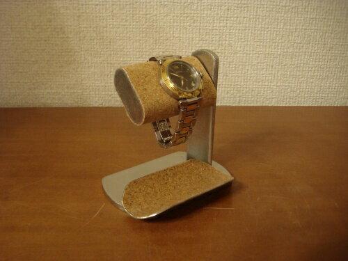 腕時計スタンド プラスドライバーでだ円パイプの角度を変えられる時計スタンド トレイ付き スタンダード