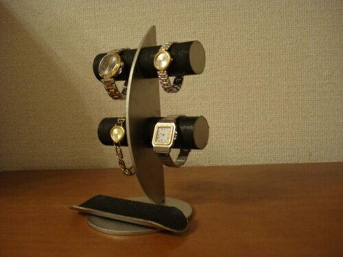 ウォッチスタンド ブラック三日月ムーン腕時計ディスプレイスタンド!ロングトレイバージョン RAK773:なんでもディスプレイ!工房