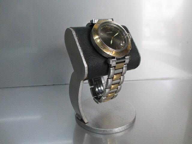 ブラックだ円パイプ支柱カーブ腕時計スタンド 2019−3−10