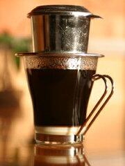 【ベトナムコーヒー】耐熱グラス(1)とアルミドリッパーのセット【コーヒー用品(珈琲用品)】【...
