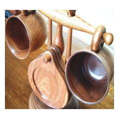 木製 コーヒーカップ スタンド 【えんじゅの木製】