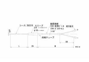 【個数:1個】日本電測 TN1-3.2-10-2M リード線形シース熱電対 TN132102M