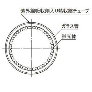 東芝直管蛍光灯40W形3波長形昼白色紫外線吸収膜付飛散防止形ラピッドスタート形FLR40S・EX-N/M・P・NU-H
