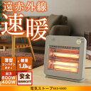 電気ストーブ 800W グレー EES-K800 ヒーター 暖房 薄型...